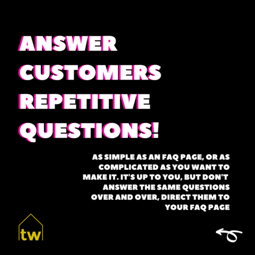 answer repetitive questions